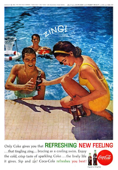 Vintage Coca Cola ad, 1962