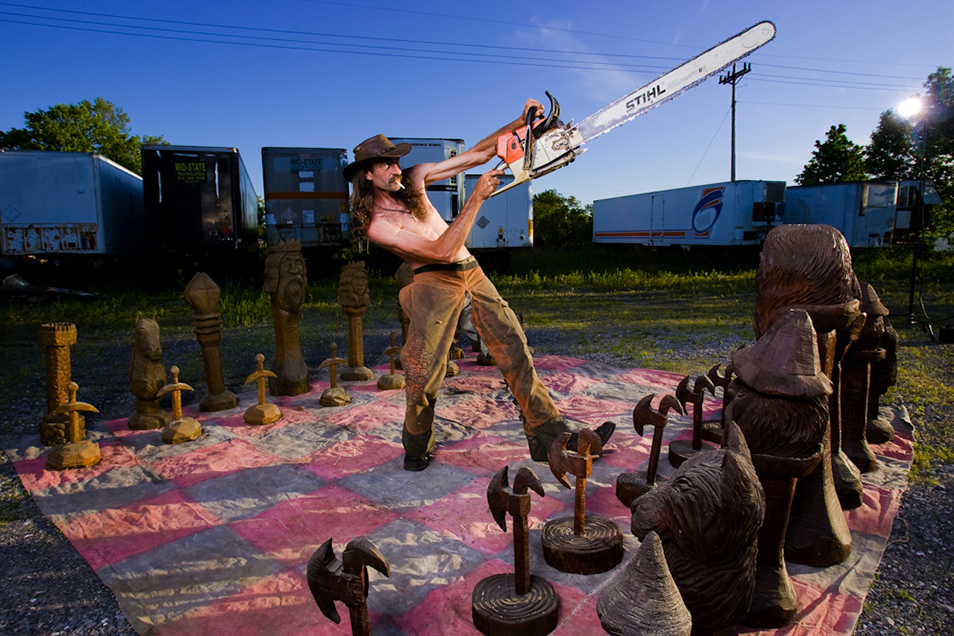 Tim Klock, Chainsaw Carver