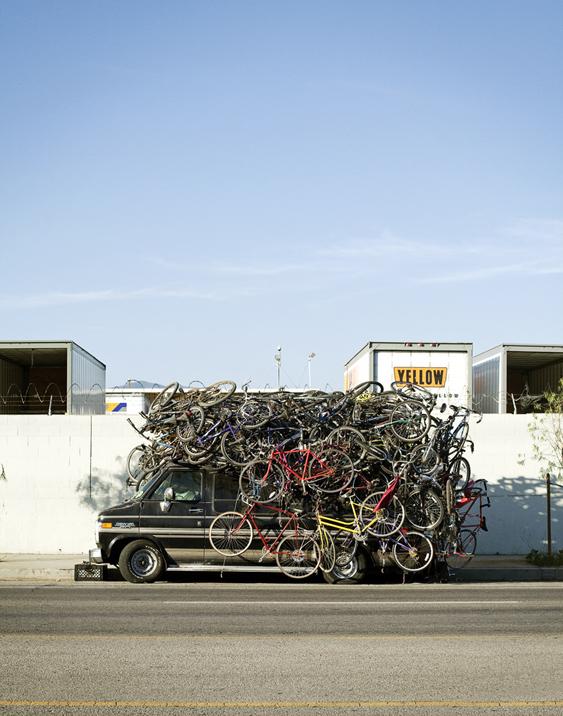 Van with Bikes