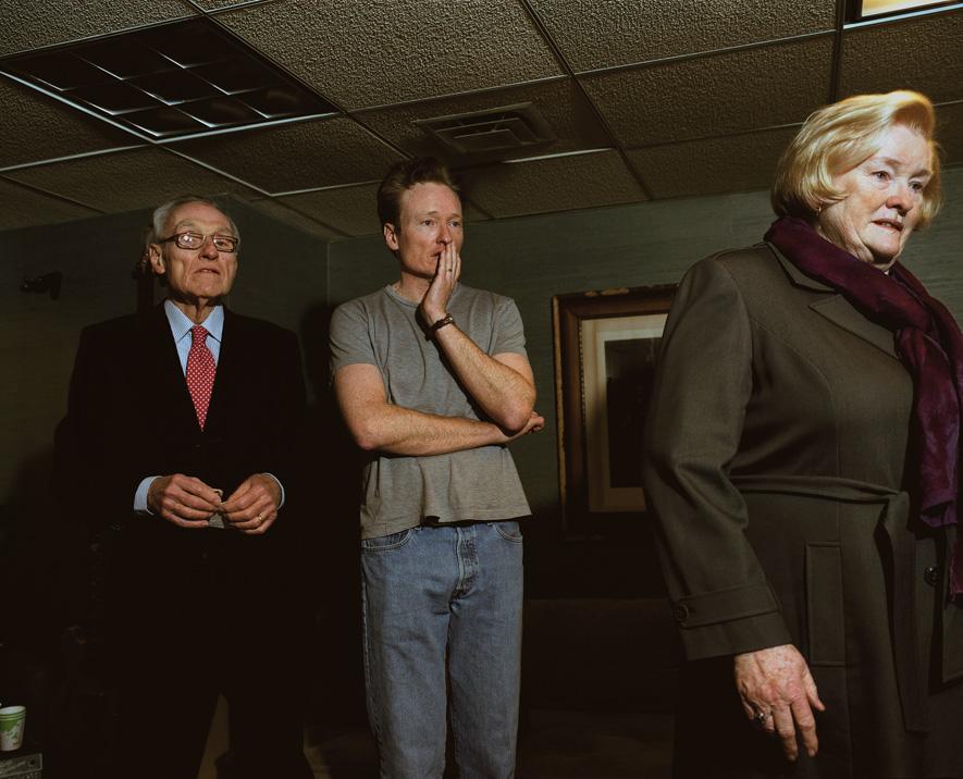 Conan visits with his parents Thomas and Ruth O'Brien.