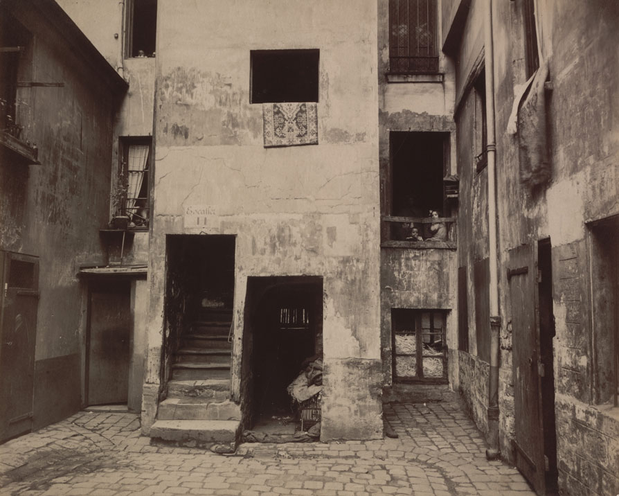 """Cour, 41 rue Broca,"" 1912. Courtesy of The Museum of Modern Art, New York. Abbott-Levy Collection. Partial gift of Shirley C. Burden."